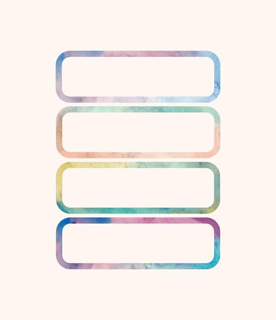 Vecteur d'arrière-plans en forme d'aquarelle rectangulaire Vecteur gratuit