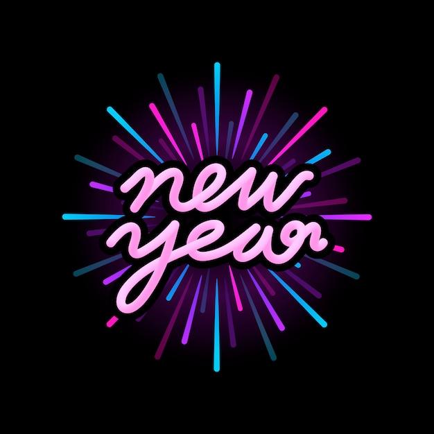 Vecteur de badge bonne année 2019 Vecteur gratuit