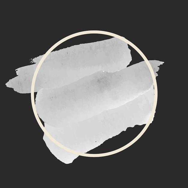 Vecteur de bannière aquarelle grise ronde Vecteur gratuit
