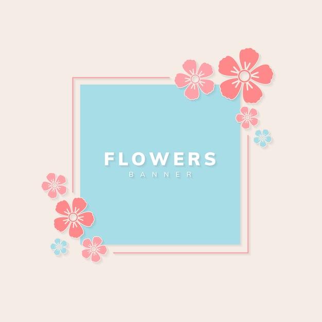 Vecteur de bannière florale Vecteur gratuit