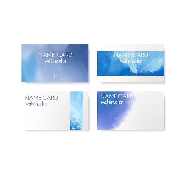 Vecteur de bannière de style aquarelle bleu Vecteur gratuit