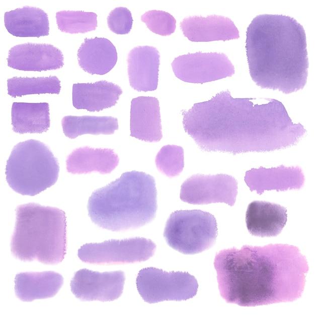 Vecteur de bannière de style aquarelle violet Vecteur gratuit