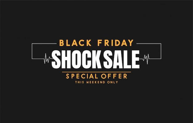 Vecteur de bannière vente vendredi noir Vecteur Premium