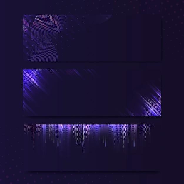 Vecteur de blanc enseigne néon rectangle violet violet Vecteur gratuit