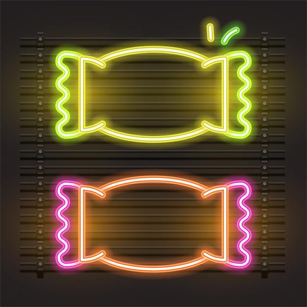 Vecteur de bonbons de néon. Vecteur Premium