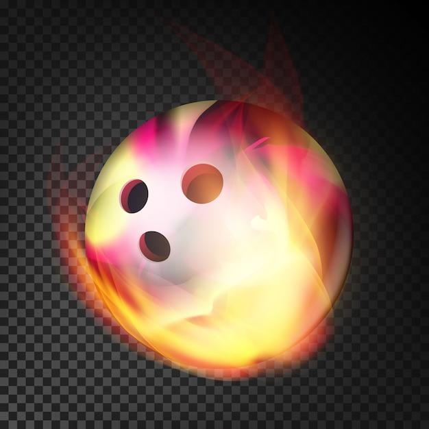 Vecteur boule de bowling réaliste Vecteur Premium