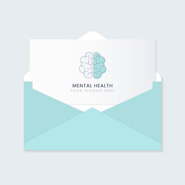 Vecteur de brochure de publicité de santé mentale Vecteur gratuit