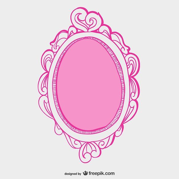 Vecteur de cadre de miroir Vecteur gratuit