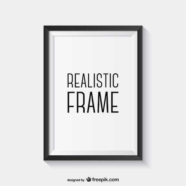 Vecteur cadre réaliste Vecteur gratuit
