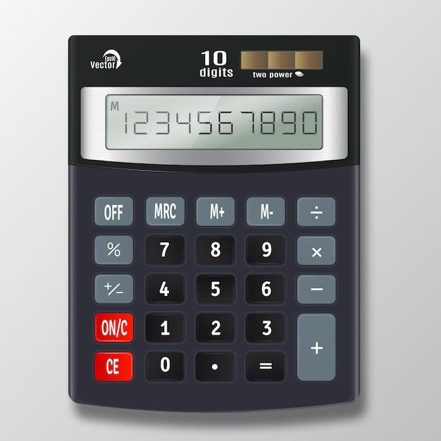Vecteur de calculatrice électronique Vecteur Premium