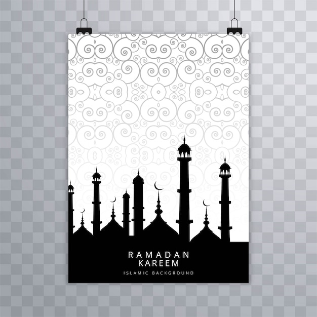 Vecteur de carte brochure islamique moderne eid mubarak islamique Vecteur gratuit