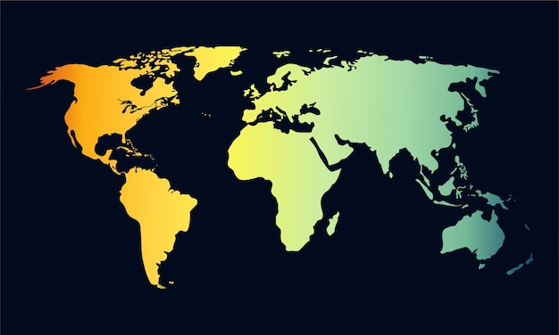 Vecteur De Carte Mondiale. Vecteur Premium