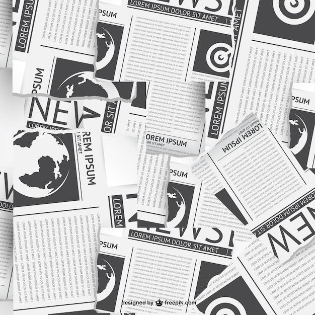 Vecteur de collage de journaux Vecteur gratuit