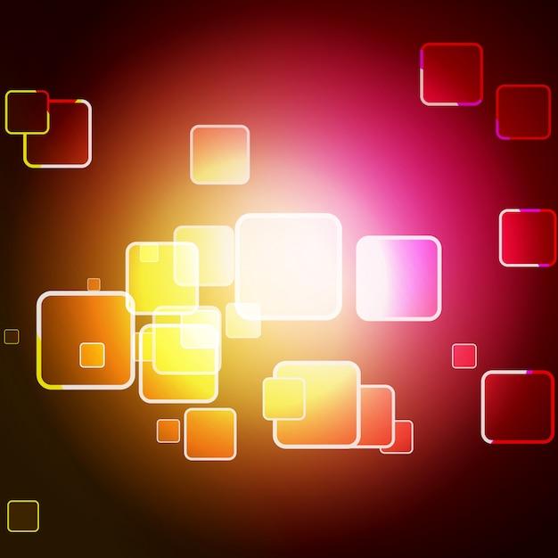 Vecteur coloré carré bokeh design art Vecteur gratuit
