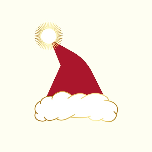 Vecteur de conception de bonnet rouge Vecteur gratuit