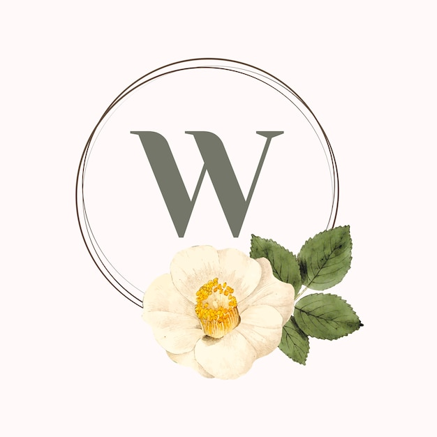 Vecteur de conception de cadre rond floral Vecteur gratuit