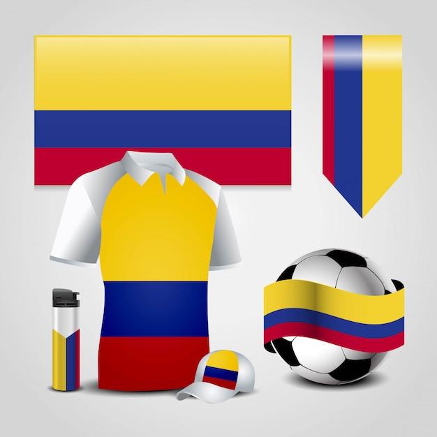 Vecteur De Conception De Drapeau De La Colombie Vecteur Premium