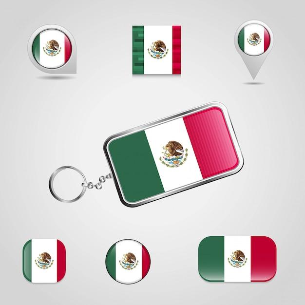 Vecteur de conception de drapeau du mexique Vecteur gratuit