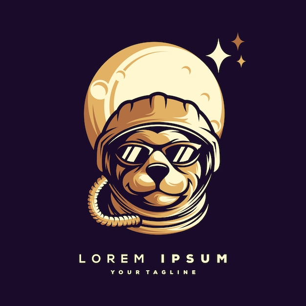Vecteur De Conception De Logo Astronaute Vecteur Premium