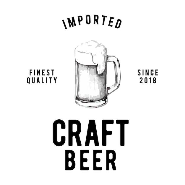Vecteur de conception de logo de bière artisanale Vecteur gratuit