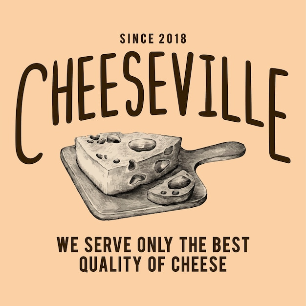 Vecteur de conception de logo cheeseville shop Vecteur gratuit