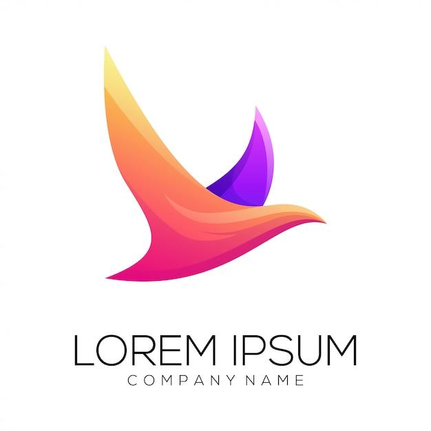 Vecteur de conception de logo colombe Vecteur Premium