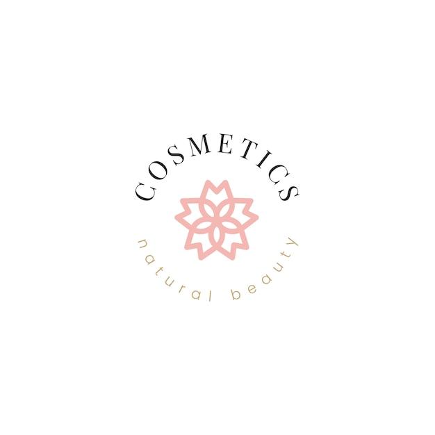 Vecteur de conception de logo de cosmétiques naturels Vecteur gratuit