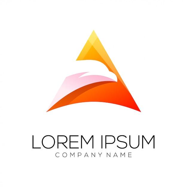 Vecteur de conception de logo eagle Vecteur Premium