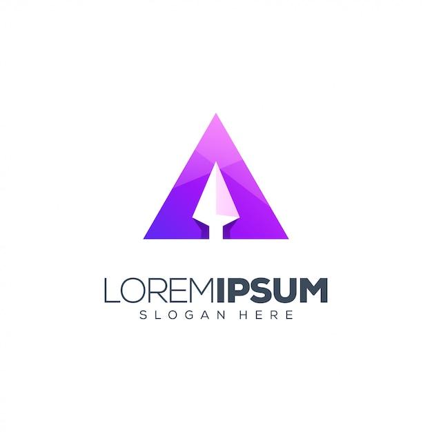 Vecteur de conception de logo flèche Vecteur Premium