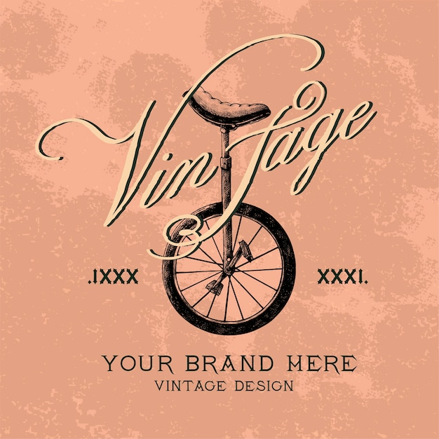 Vecteur de conception de logo de marque vintage Vecteur gratuit
