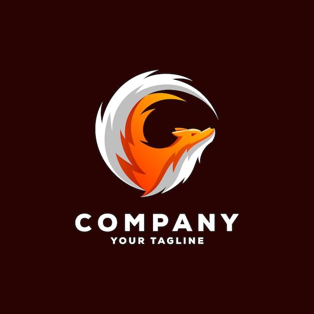 Vecteur de conception de logo renard génial Vecteur Premium