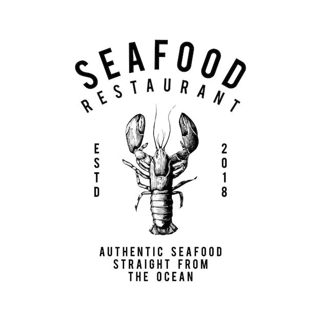 Vecteur de conception de logo de restaurant de fruits de mer Vecteur gratuit