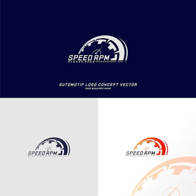 Vecteur de conception de logo de vitesse. modèle de conception de logo de compteur de vitesse rapide. symbole d'icône Vecteur Premium