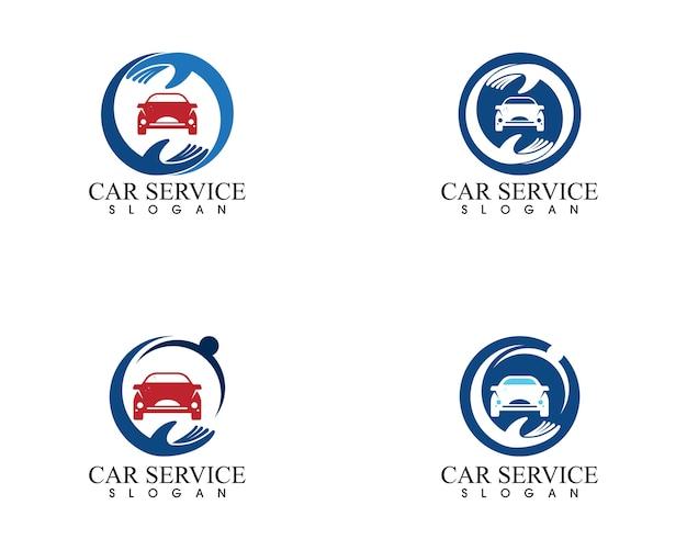 Vecteur de conception de logo de voiture auto service Vecteur Premium