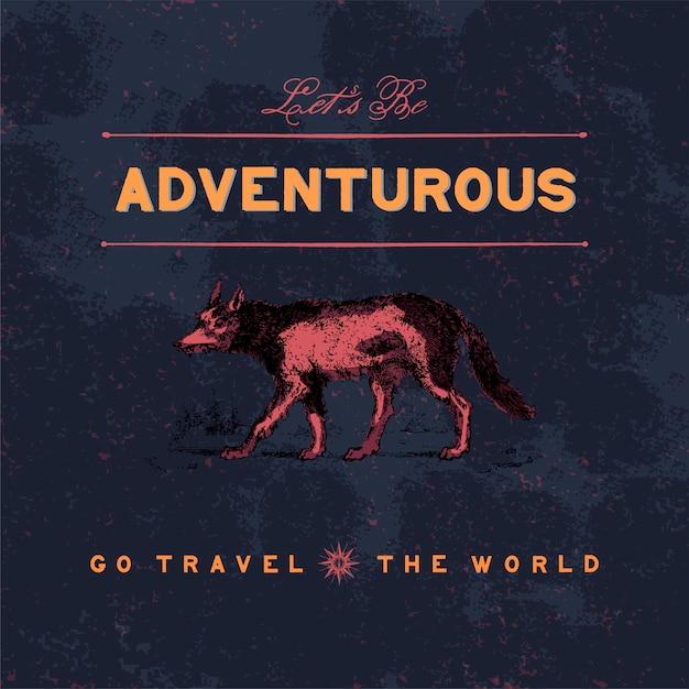 Vecteur de conception de logo voyage aventureux Vecteur gratuit