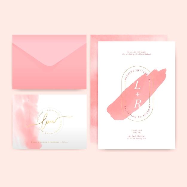 Vecteur de conception mise en page invitation mariage Vecteur gratuit