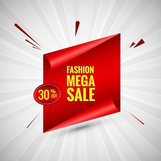 Vecteur de conception mode bannière coloré vente méga Vecteur gratuit