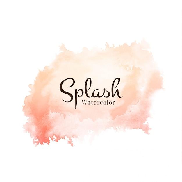 Vecteur de conception souple splash aquarelle moderne Vecteur gratuit