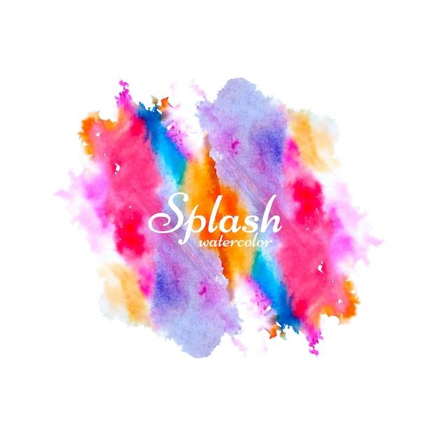 Vecteur de conception splash aquarelle coloré moderne Vecteur gratuit