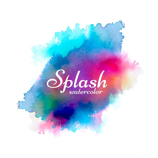 Vecteur de conception splash aquarelle coloré moderne Vecteur gratuit