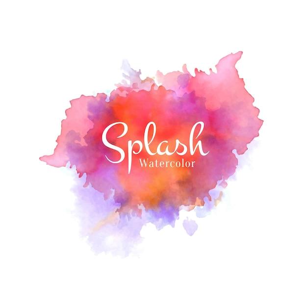 Vecteur De Conception Splash Aquarelle Coloré Vecteur gratuit