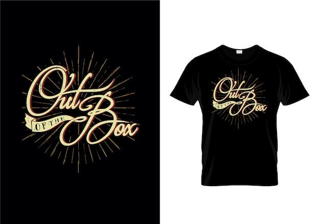 Vecteur de conception de t-shirt de typographie de la boîte Vecteur Premium