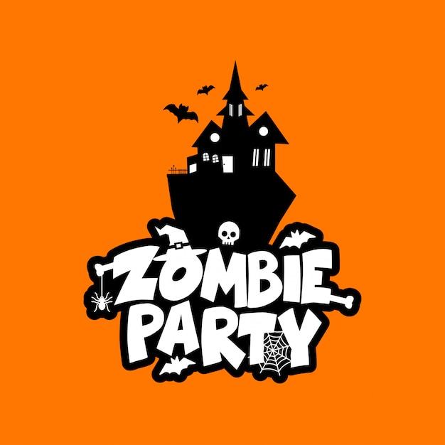 Vecteur de conception de typographie zombie party Vecteur gratuit