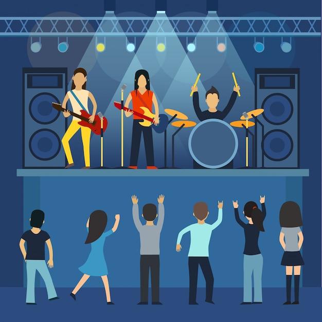 Vecteur De Concert Rock Vecteur Premium