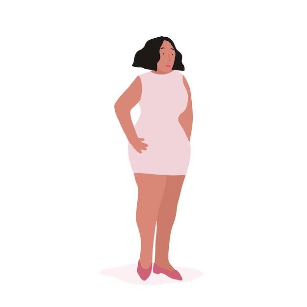 Vecteur de corps entier forte femme afro-américaine Vecteur gratuit