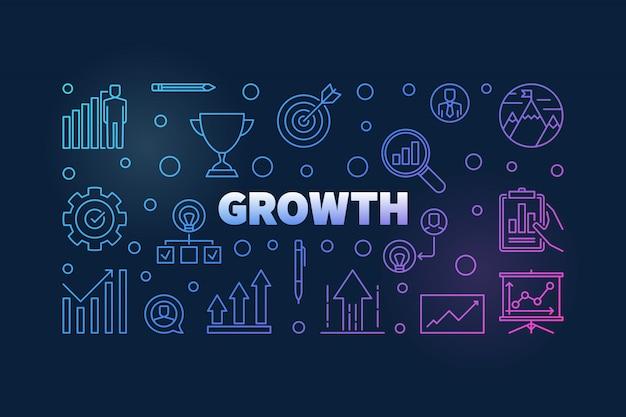 Vecteur de croissance couleur fond horizontal Vecteur Premium