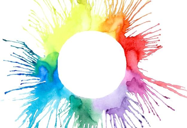 Vecteur de croquis multicolore aquarelle blobs splash main Vecteur Premium