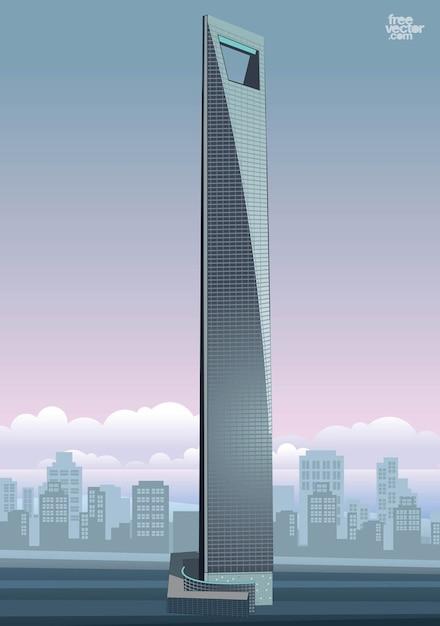Vecteur de construction de la tour de gratte ciel de shanghai t l charger d - Construction gratte ciel ...