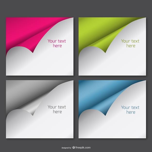 vecteur de papier gondol ensemble gratuit t l charger des vecteurs gratuitement. Black Bedroom Furniture Sets. Home Design Ideas
