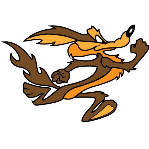 Vecteur de personnage de dessin anim de coyote wile t l charger des vecteurs gratuitement - Dessin de coyote ...